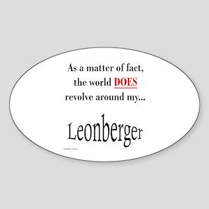 Leonberger World Oval Sticker