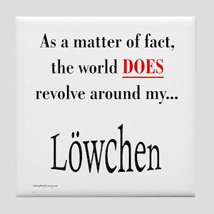 Lowchen World Tile Coaster