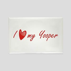 I Love My Yooper Rectangle Magnet