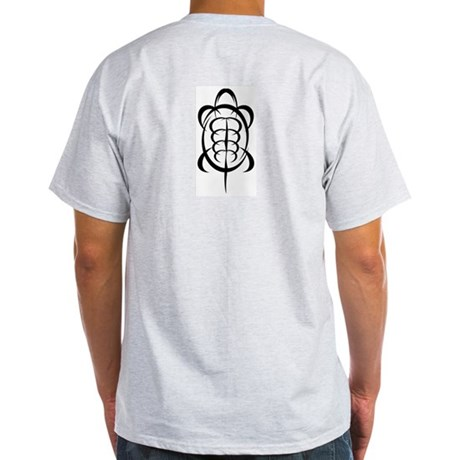 Tribal Turtle Ash Grey T-Shirt