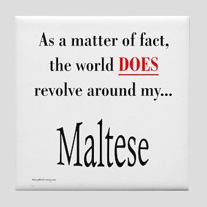 Maltese World Tile Coaster