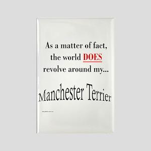 Manchester World Rectangle Magnet