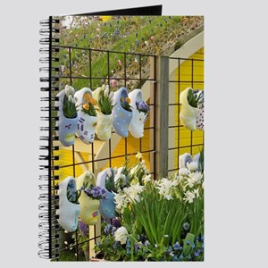Symbolic wooden shoes and flowers, Keukenh Journal