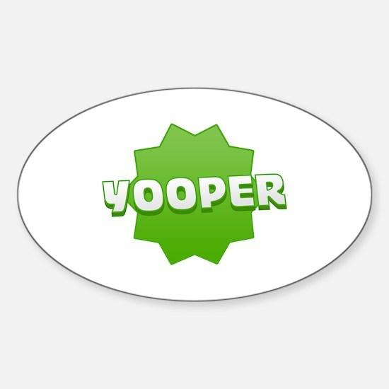 Yooper Badge Oval Decal
