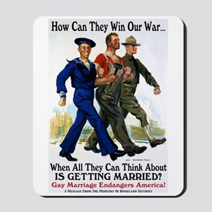 Gays Go To War Mousepad