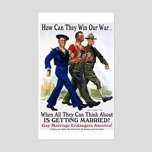 Gays Go To War Sticker