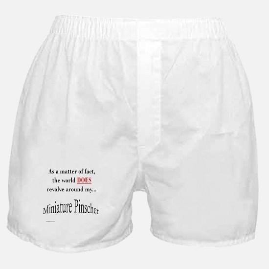 Min Pin World Boxer Shorts