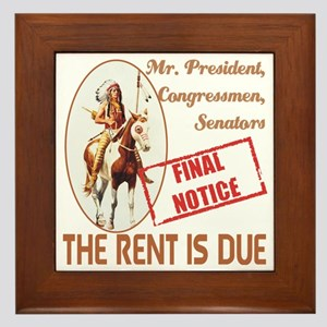 The rent is Due Framed Tile