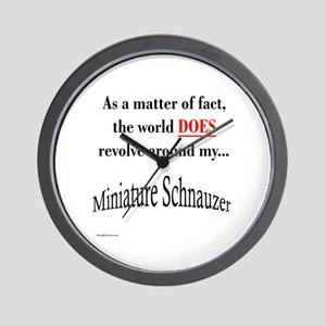 Schnauzer World Wall Clock