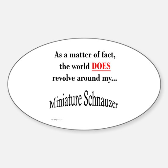Schnauzer World Oval Decal
