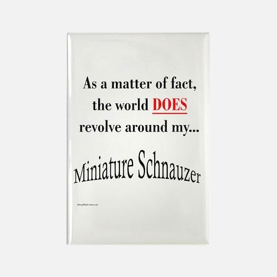 Schnauzer World Rectangle Magnet