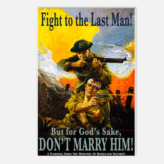 Fight to the Last Man Postcards (Package of 8)
