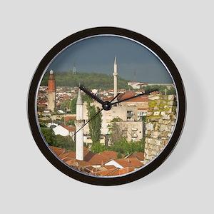 Skopje. View of Carsija Area from City  Wall Clock