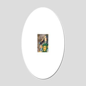 Triangular Symbol of Sicilyr 20x12 Oval Wall Decal