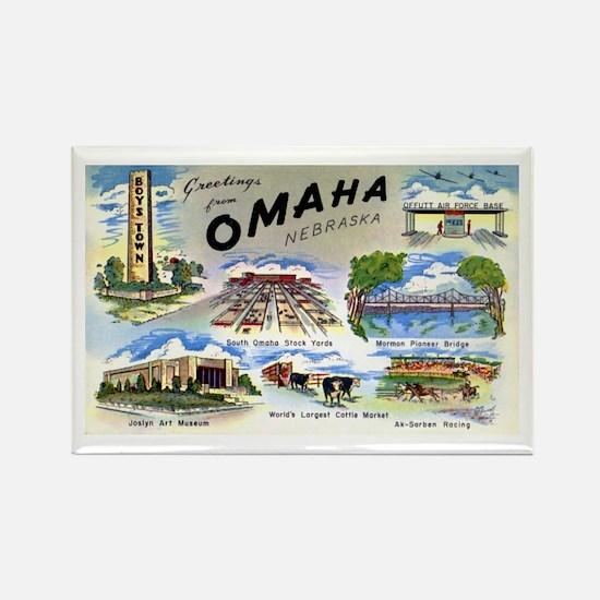 Omaha Nebraska Rectangle Magnet (10 pack)