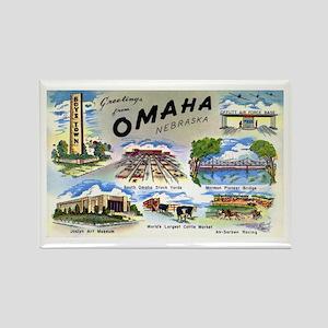 Omaha Nebraska Rectangle Magnet