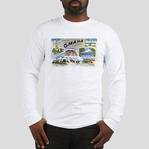 Omaha Nebraska (Front) Long Sleeve T-Shirt