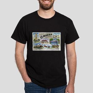 Omaha Nebraska (Front) Dark T-Shirt
