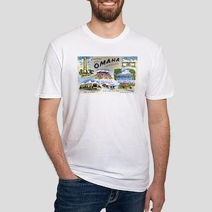 Omaha Nebraska (Front) Fitted T-Shirt