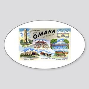Omaha Nebraska Oval Sticker