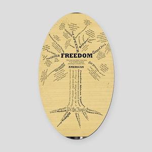 FreedomTree-LGPSTR Oval Car Magnet