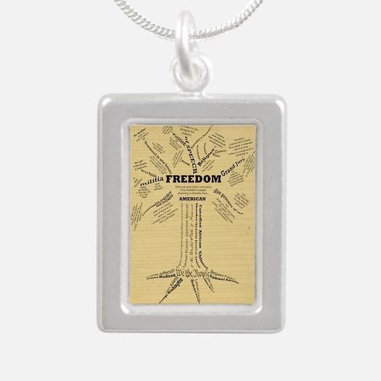 FreedomTree-LGPSTR Silver Portrait Necklace