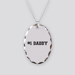#1 Daddy Necklace Oval Charm
