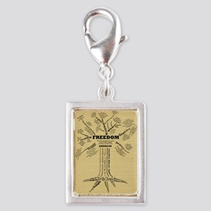 FreedomTree-LG Silver Portrait Charm