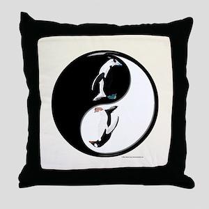 Penguin Yin Yang Throw Pillow