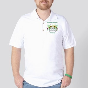 GardeningDogCockapooWt Golf Shirt