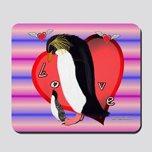 Penguin Love Mouse Pad