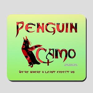Penguin Camo Mouse Pad