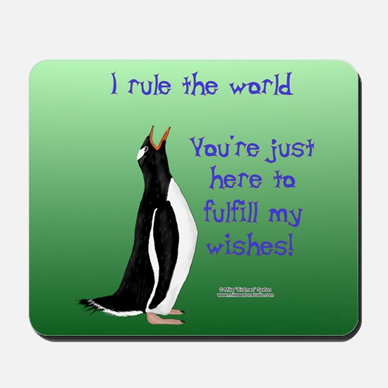 Penguin Ruler Mouse Pad