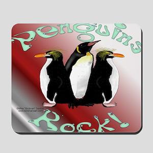 Penguins Rock Mouse Pad