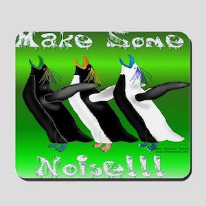 Noisy Penguins Mouse pad