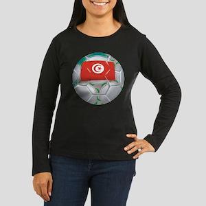 Tunisia Soccer Women's Long Sleeve Dark T-Shirt