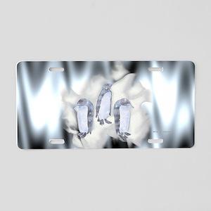 Frozen Penguins Aluminum License Plate