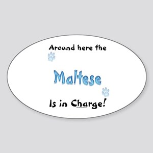 Maltese Charge Oval Sticker