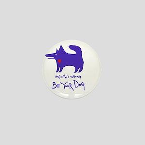 dog notebook design Blue copy Mini Button