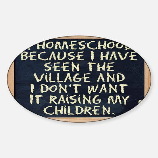 homeschool-laptop Sticker (Oval)