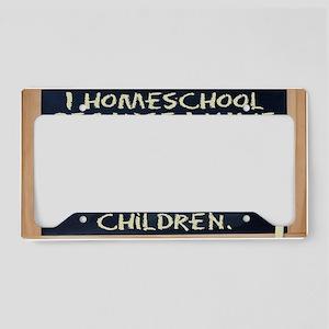 homeschool-laptop License Plate Holder