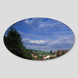 Szcawnica Village view along the Du Sticker (Oval)