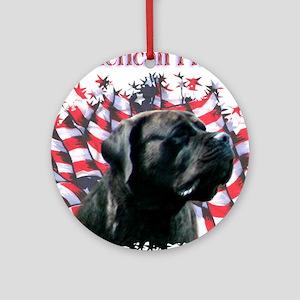 Mastiff Pride (brindle) Ornament (Round)
