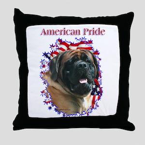 Mastiff Pride(apricot) Throw Pillow