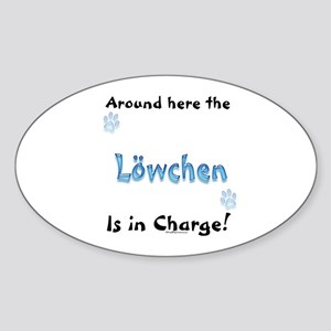Lowchen Charge Oval Sticker