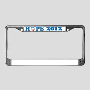 Hope 2012 License Plate Frame