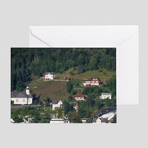 Geirangerfjord at Hellesylt. UNESCO. Greeting Card