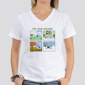 """The Four Seasons"" Women's V-Neck T-Shirt"
