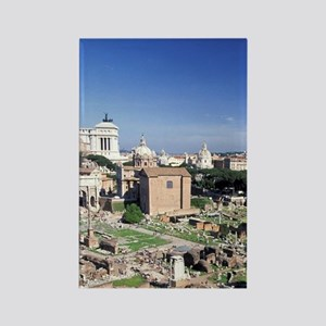 Italy, Rome. Foro Romano viewed f Rectangle Magnet