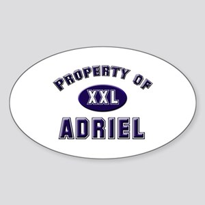 Property of adriel Oval Sticker